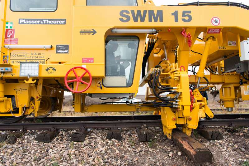 Repositioning the gripper, and the sleeper is removed