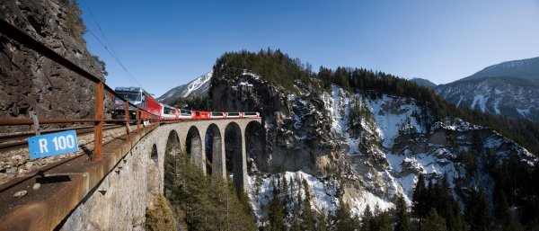 Rhaetian Railway stands for the pioneering days of railway engineering.