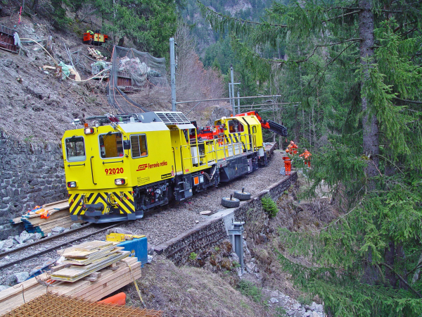 Since the autumn of 2016, a new vehicle supports the Catenary Department of Rhaetian Railway.