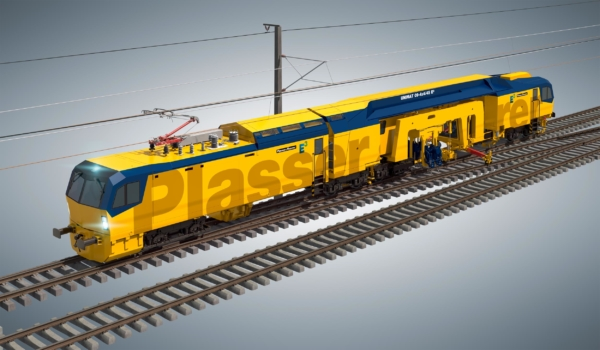 UNIMAT 09-4x4/4S E³ - the axles of the power bogies are powered by electric motors. The tamping units have been electrified as well. The key tamping parameters, however, have remained unchanged.