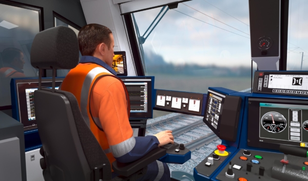 Redefined ergonomic design on tamping machines: The SmartALC is the central control element in the front cabin.