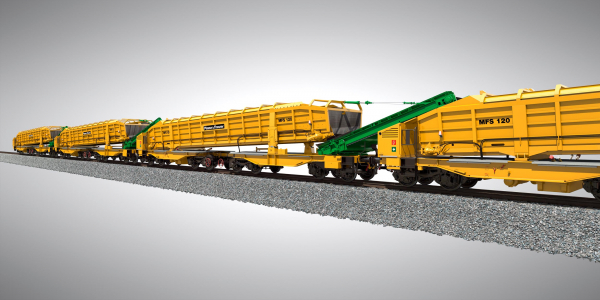 A new bearing for the hopper and an adapted positioning of the bogies ensure improved load distribution - the self-supporting construction reduces the net weight.