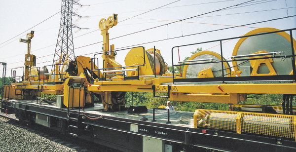 The FUM catenary renewal machine developed by Plasser & Theurer