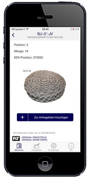 Smart Catalog App Hohlbolzenkette