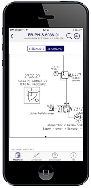 Smart Catalog App Systemplan Bremse Zoom Modus