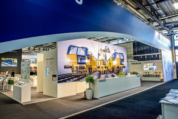 Plasser & Theurer's impressive indoor exhibition stand
