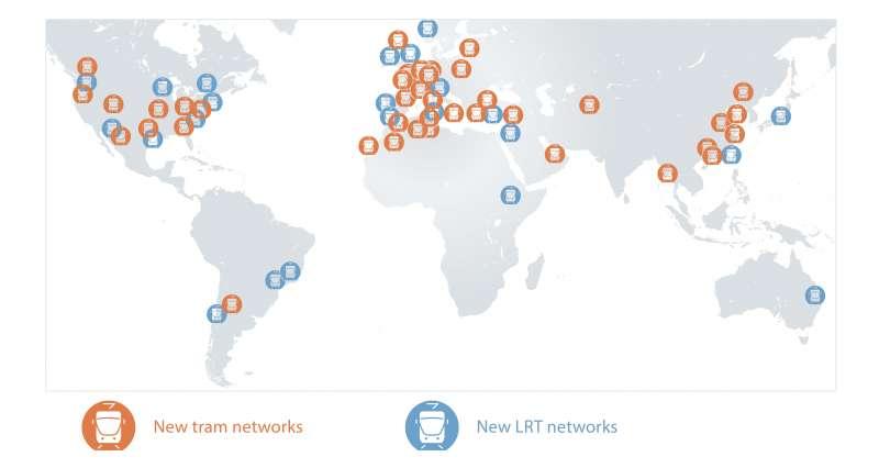 New tram networks, New LRT networks