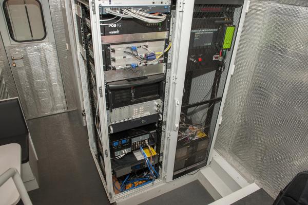 Computer rack aboard the EM100VT