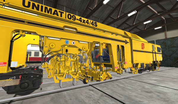 Together with PMC Rail, we have produced a detailed model of a Unimat 09-4x4/4S. Using the VR tool, our experts are virtually at the operator's side when inspecting the machine. Using the controller, operations can be carried out within the model.