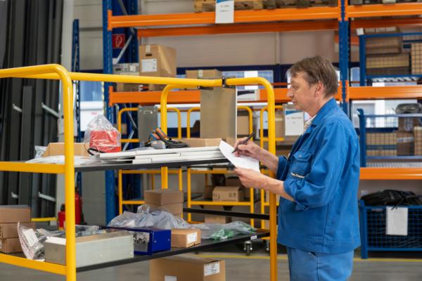 Ein wesentliches Merkmal der neuen Kabinenproduktion ist die neue Materiallogistik.