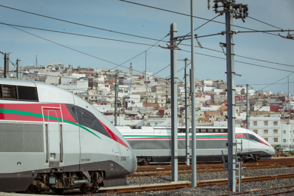 """Africa's fastest line"" will reduce the journey time between the two major economic centres of Casablanca and Tangier, which are 350 km apart, to just over two hours. Photo © Alstom"