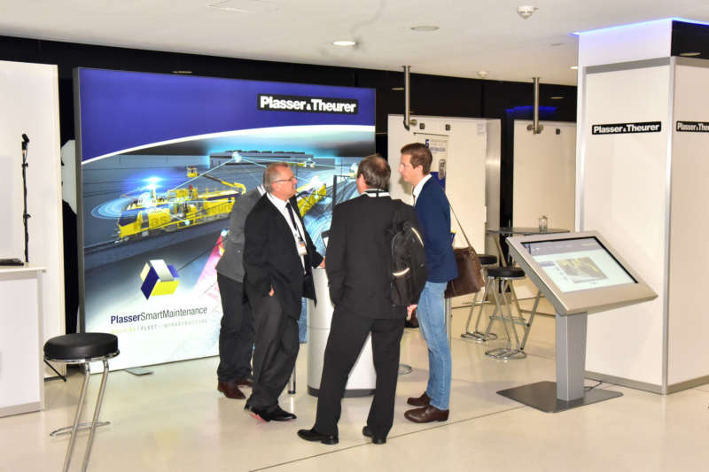 The stands of Plasser &Theurer, P&T Connected, Deutsche Plasser and PMC Rail offered space for in-depth expert discussions on the subject of infrastructure maintenance.