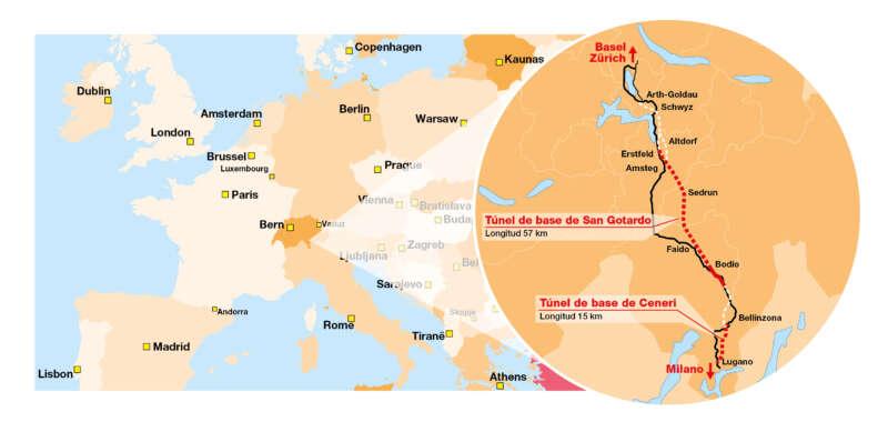 A finales de 2020, el nuevo eje norte-sur a través de los Alpes acelerará el tráfico de pasajeros y mercancías entre Alemania e Italia a hasta 250 km/h.