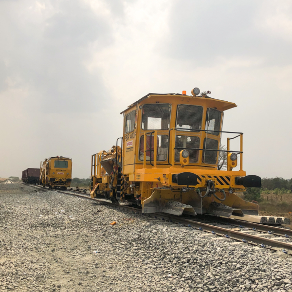 Two new machines, both built by Plasser India, are ready for operation in Ghana.