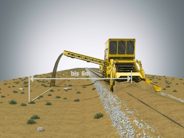 Sand is placed at a sufficient distance from the track or can be moved to another vehicle if required