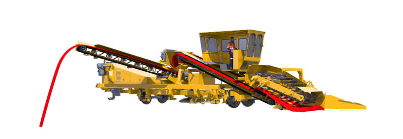 ​ The material handling system ensures consistent performance and places sand in chosen areas.